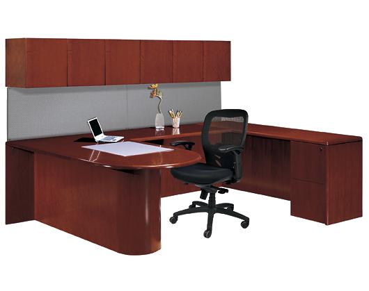 Wood Veneer Contemporary Desks Office Furniture